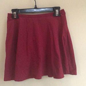 LA Hearts cranberry skirt